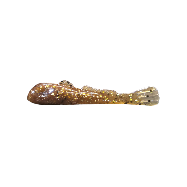 """Grumpy Bait Round Goby. Natural Goby/Gold 2.6"""" 8-pk"""