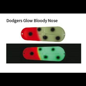 Moonshine Lures #3 Dodger Glow Bloody Nose