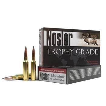 Nosler Trophy Grade Ammunition 6.5 Creedmoor 142 Grain AccuBond Long Range Box of 20