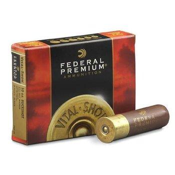 "Federal 10 Gauge Shotshell 5 Rounds 3.5"" 00 Buck Copper Plated 18 Pellets"