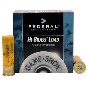 Federal H204-5 Game-Shok Upland - Hi-Brass Shotshell 20 GA, 2-3/4 in
