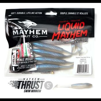 "Mayhem Thrust Swim Minnow 5"" Alewife Laminate 5-pk"