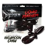 "Mayhem Incursion Craw 4"" Black Neon 5-pk"