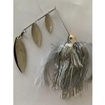 B&N Custom Triple Shad Spinnerbait Hot Whitefish/Nickel Blades