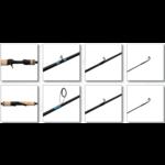 "G.Loomis NRX+ 802C JWR 6'8"" Medium Ex-Fast Casting Rod. 1/8-3/8oz 10-14lb"