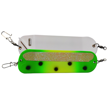 "Bay Rat Lures Flasher 8"" Glow Green Frog"