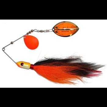 Inhaler Rattletail Spinnerbait Orange/Black