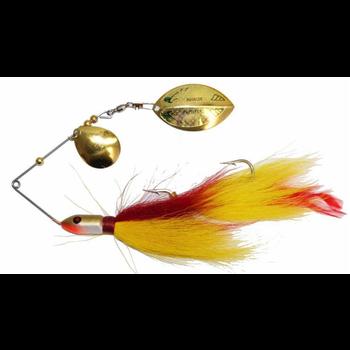 Inhaler Rattletail Spinnerbait Brass/Yellow-Red