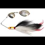 Inhaler Rattletail Spinnerbait Nickel/Black-White