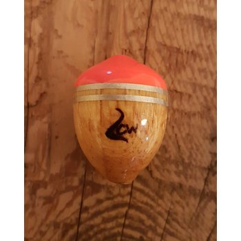 Coolwaters Balsa Wood 11g Slip Acorn Float Hot Orange