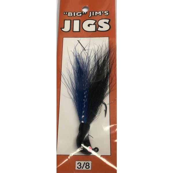Big Jim's Bucktail Jig. 3/8oz 002 Blk/Blue