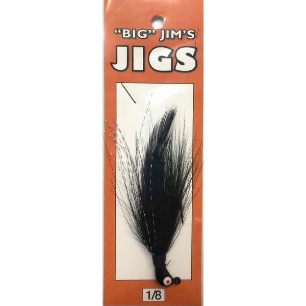 Big Jim's Bucktail Jig. 1/8oz 005 Black