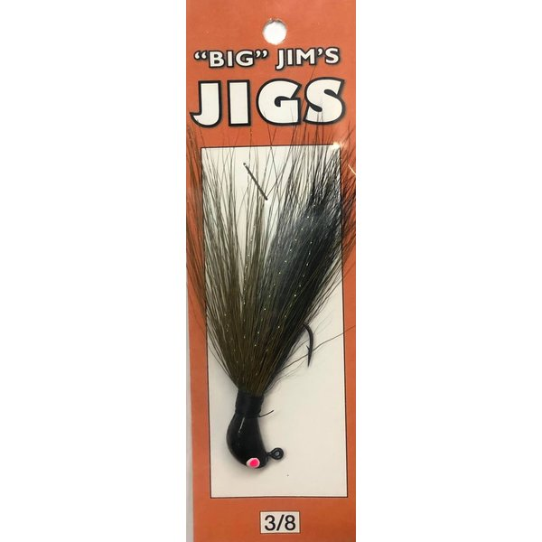 Big Jim's Bucktail Jig. 3/8oz 013 Black Olive Green