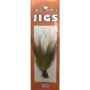 Big Jim's Bucktail Jig. 1/4oz 021 Olive Green V2