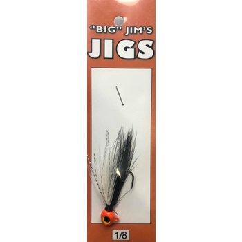 Big Jim's Panfish Bucktail Jig. 1/8oz 005 Skunk Orange Head