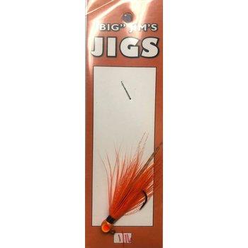 Big Jim's Panfish Bucktail Jig. 1/16oz 008 Orange Crush