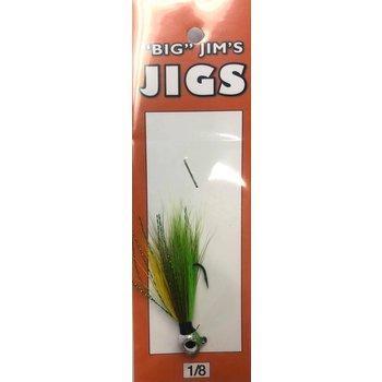 Big Jim's Panfish Bucktail Jig. 1/8oz 013 Green Yellow Olive