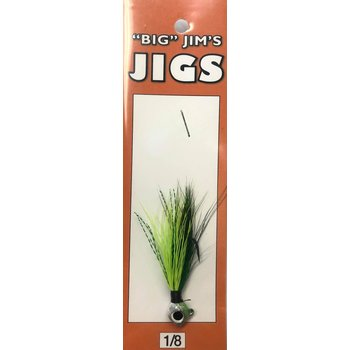 Big Jim's Panfish Bucktail Jig. 1/8oz 014 Green Chartreuse