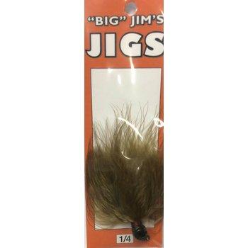 Big Jim's Marabou Jig. 1/4oz 004 Olive Dk Green Head