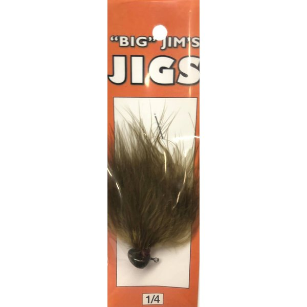 Big Jim's Marabou Jig. 1/4oz 007 Olive Green Round Head