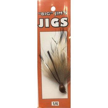 Big Jim's Marabou Jig. 1/4oz 008 Tan Brown