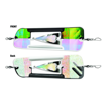 """Luhr Jensen Coyote Cyclone Flasher Size 0 Cop Car Crack Glow Moon Jelly 8.25"""""""
