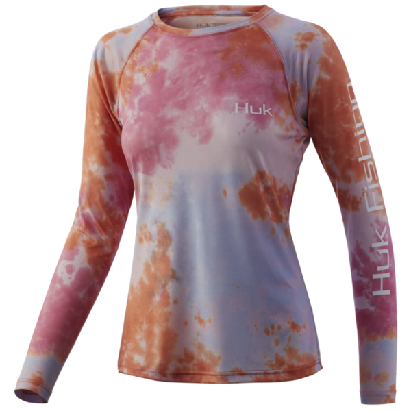 Huk Womens Tie-Dye Pursuit XS Fusion Coral