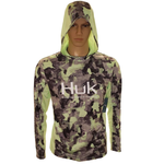 Huk Icon X KC Refraction Camo Hoodie. New Superior M