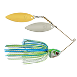 Booyah Covert Double Willow 1/2oz White Chart Blue. Gold Top Willow