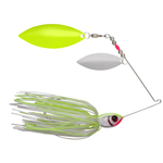 Booyah Glow Blade 1/2oz Spinnerbait. White Chartreuse Double Willow