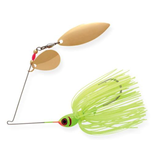 Booyah Tandem Blade Spinnerbait. Chartreuse 1/2oz