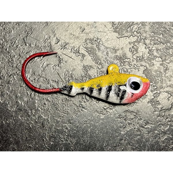 Gagnon's Custom Jigs 3/8 OZ Yellow Tiger 4 Pack (GCJ38YT)