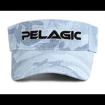 Pelagic Performance Visor Hat. Fish Camo O/S