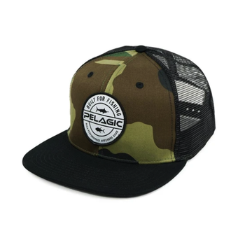 Pelagic Built Snapback Hat. Camo O/S