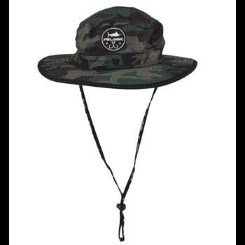 Pelagic Sunsetter Bucket Hat. Fish Camo Green O/S
