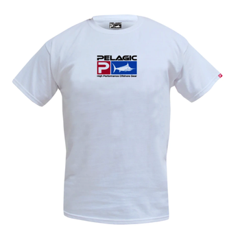 Pelagic Deluxe Logo Classic Tee. White