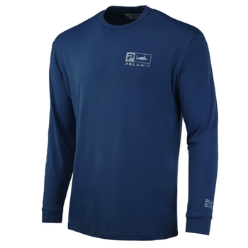 Pelagic Aquatek Icon Performance Shirt. Smokey Blue