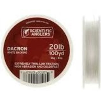 Scientific Anglers Dacron Backing 20lb 100yd White