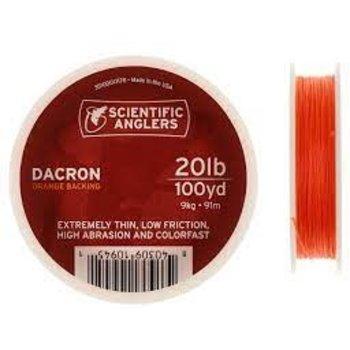 Scientific Anglers Dacron Backing 20lb 100yd Orange