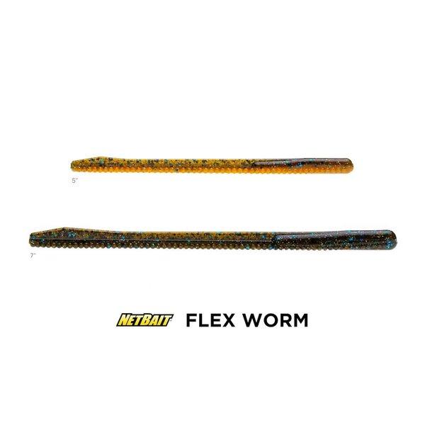 "Net Bait Flex Worm 5"" 8-pk"