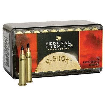 Federal Premium V-Shok Ammunition P771, 17 HMR, Hornady V-Max, 17 GR, 2530 fps, 50 Rd/bx