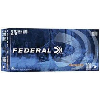 Federal Federal Power-Shok Rifle Ammunition 375B, 375 H&H Mag, Soft Point (SP), 300 GR, 2530 fps, 20 Rd/bx