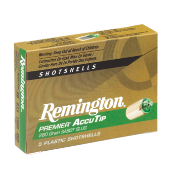 Remington Remington Premier AccuTip Slug Ammo 12ga 3in 385gr 5 Rounds
