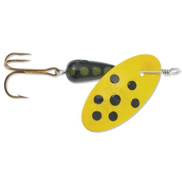 Panther Martin Panther Martin Spotted Size 4 1/8oz Black Yellow Dot Yellow Blade