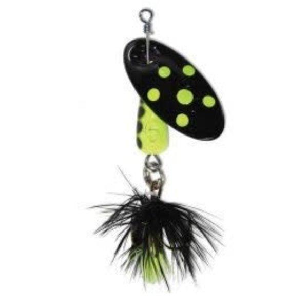 Panther Martin Size 6 1/4oz Dressed Black Chartreuse Dot