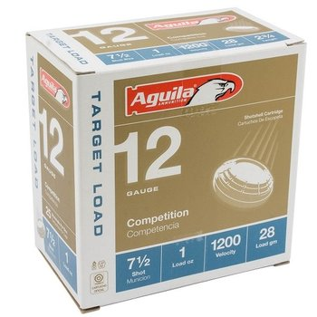 Aguila Competition Target Load Ammo,  12ga 1oz 7.5 Shot 1200fps per Case