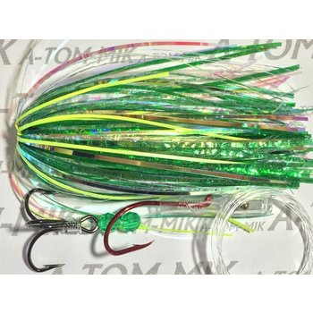 A-TOM-MIK Tourament Rigged Fly With Owner Hook And Segar Line Green Hammer