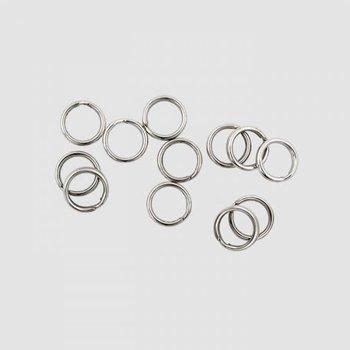 Lucky Strike Premium Split Ring. #4 Nickel 12-pk