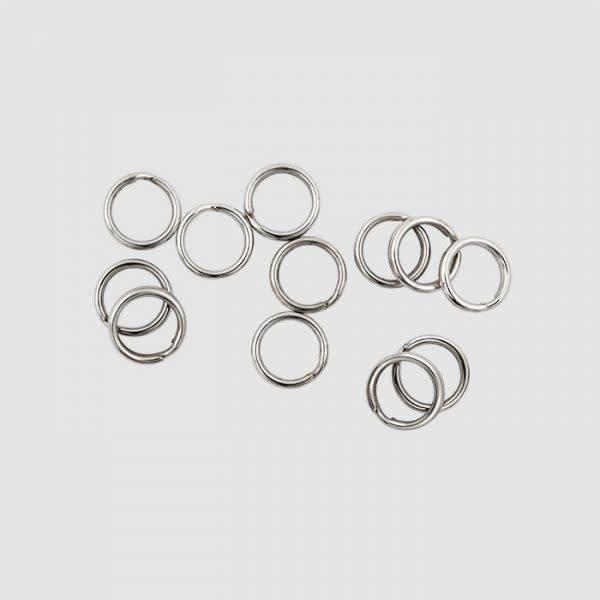 Lucky Strike Premium Split Ring. #6 Nickel 12-pk