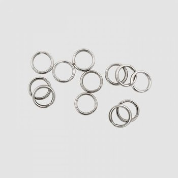 Lucky Strike Premium Split Ring. #2 Nickel 12-pk